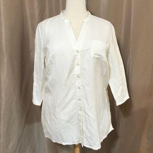 NWT 18/20 linen-blend tunic top Lane Bryant